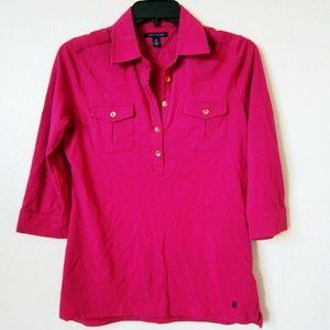 Tommy Hilfiger Fuchsia 3/4 Sleeve Shirt